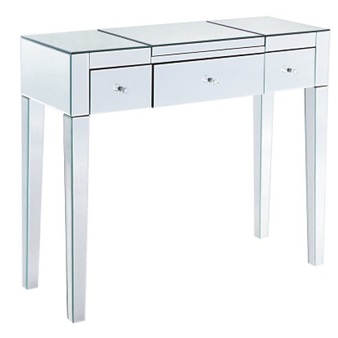 Venetian All Glass Dressing Table With Buldit In Mirror