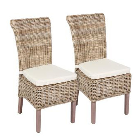 Occasional range wicker chair with cushion