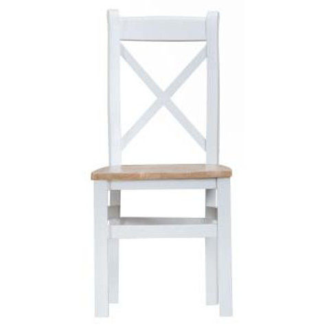DORSET WHITE  COLLECTION CROSS BACK WOODEN PAD