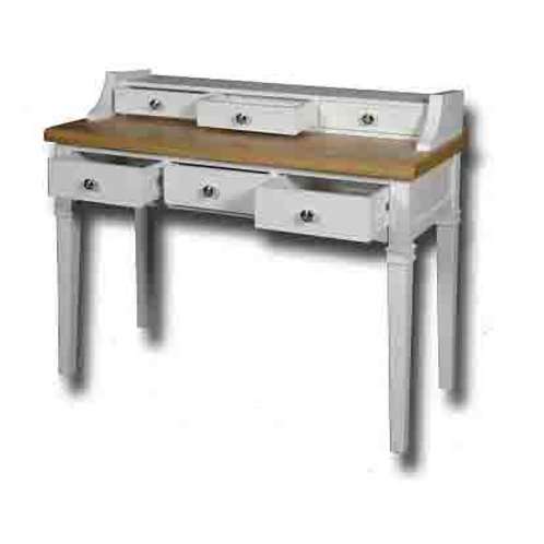 EPSOM WHITE PAINTED CONSOLE TABLE WITH DRAWERS