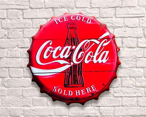 Small Coca Cola Vintage Bottle Top Wall Art