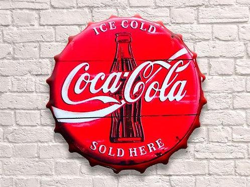 30cm Coca Cola Vintage Bottle Top
