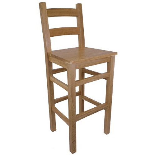 BROMLEY HIGH BACK STOOL WOODEN SEAT