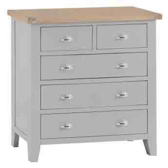DORSET GREY COLLECTION 2 OVER 3 CHEST