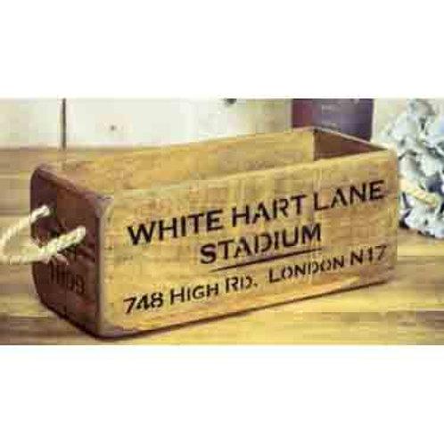 WOODEN BOX SMALL WHITE HART LANE