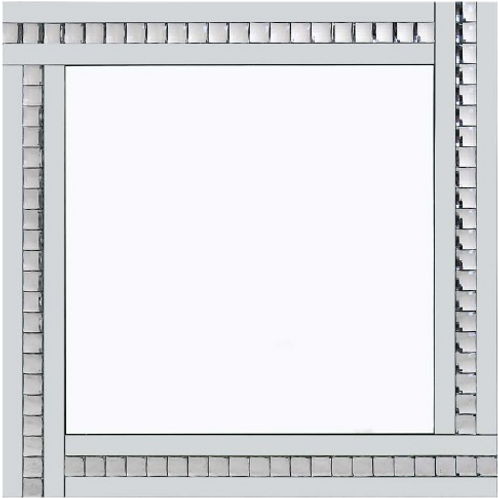 CRYSTAL 60 X 60 WHITE GLASS WITH CLEAR CRYSTAL