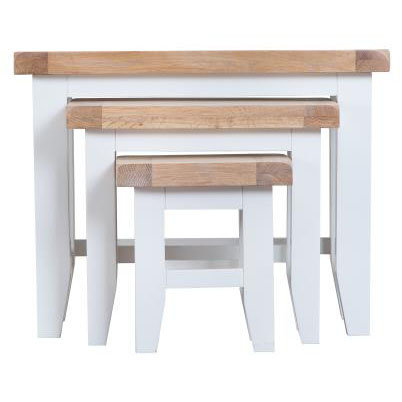 DORSET WHITE  PAINTED COLLECTION  NEST OF TABLE (3)