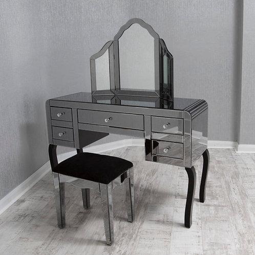 smoked dressing table set