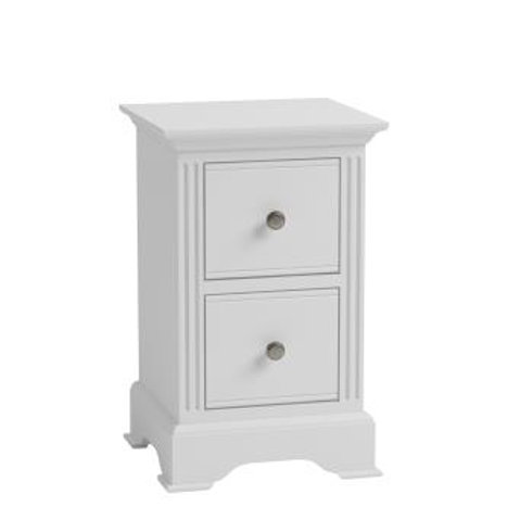 WHITE BROMPTON SMALL BEDSIDE