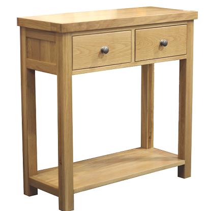 WINDSOR  OAK RANGE MED CONSOLE TABLE