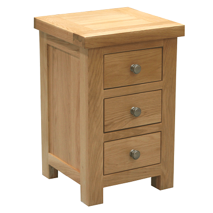 WINDSOR OAK RANGE  3 DRAWER MINI BEDSIDE