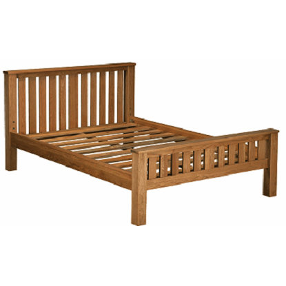 HENLEY RUSTIC OAK 4.6 DOUBLE  BED  FRAME