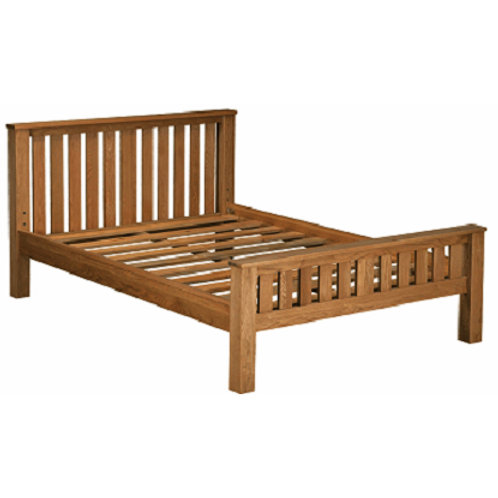 HENLEY RUSTIC OAK 4.6 DOUBLE  BED  FRAME