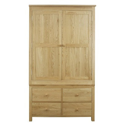 WINDSOR OAK  RANGE 4 DRAWER WARDROBE