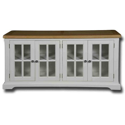 EPSOM WHITE PAINTED GLASS DOOR SIDEBOARD