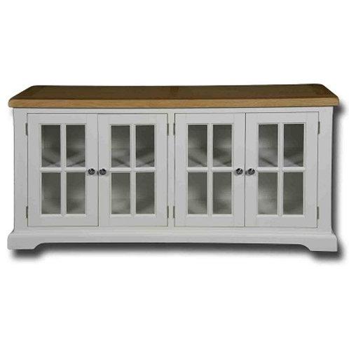 EPSOM WHITE PAINTED GLASS DOOR SIDEBOARD