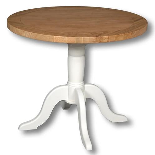 EPSOM WHITE ROUND DINNING TABLE