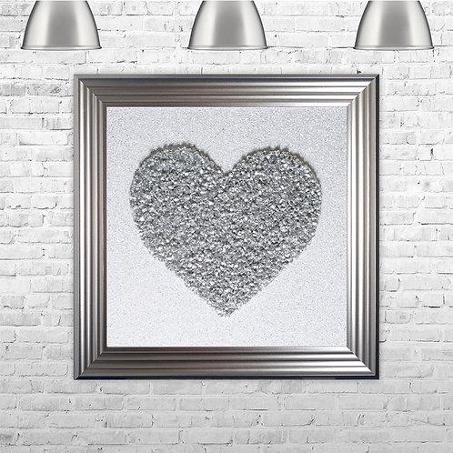 Crystal heart print