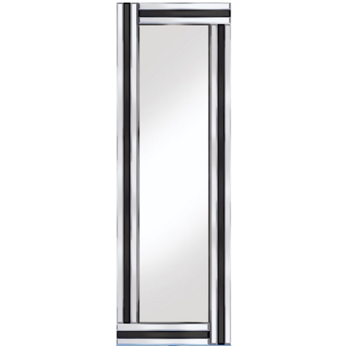 BLACK AND CLEAR GLASS MIRROR 12X 40