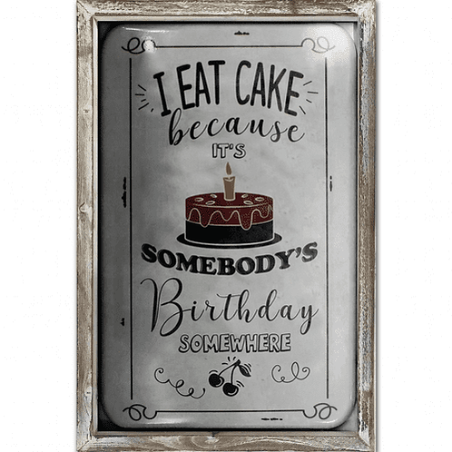 EAT CAKE WALL PLAQUE
