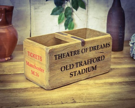WOODEN BOX OLD TRAFFORD