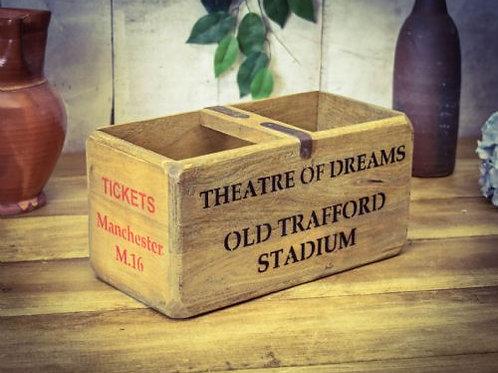 WOODEN BOX OLD TRAFFORD