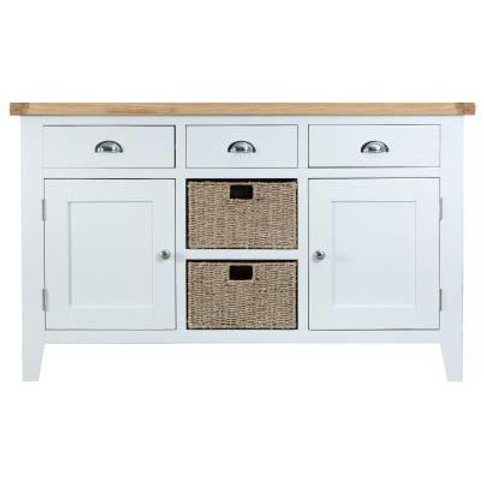 DORSET WHITE  COLLECTION LARGE SIDEBOARD