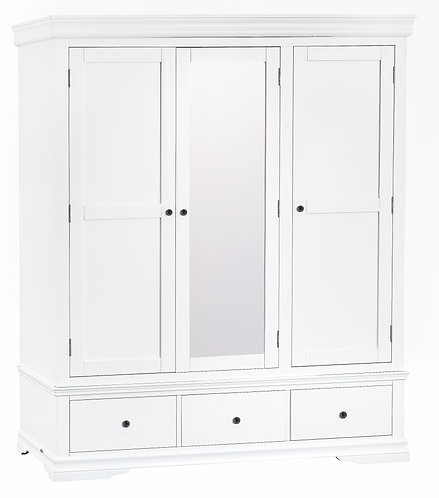 CAMDEN WHITE TRIPLE WARDROBE