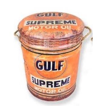 GULF motor oil large  stool/bin