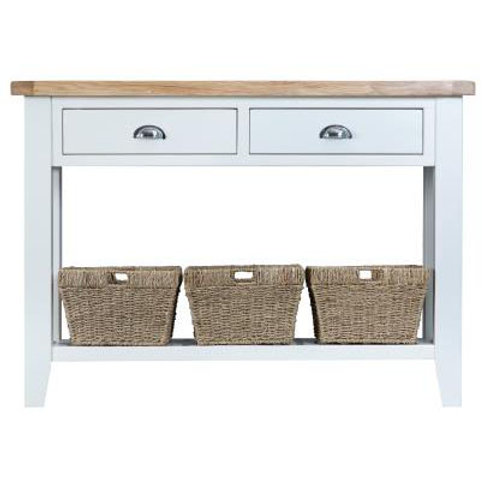 DORSET WHITE  COLLECTION LARGE CONSOLE TABLE