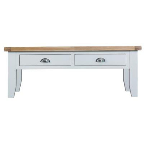 DORSET WHITE  PAINTED COLLECTION LARGE COFFEE TABLE