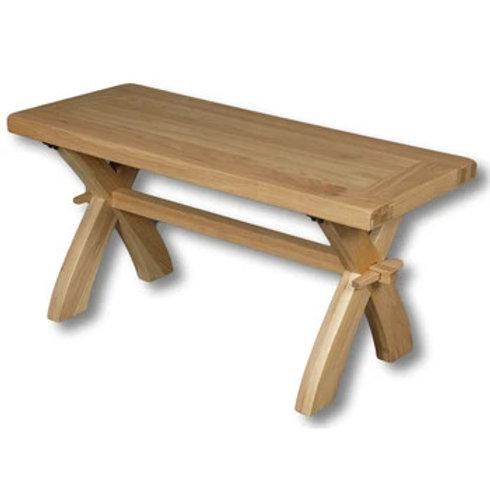 HENLEY OAK 90CM BENCH/COFFEE TABLE