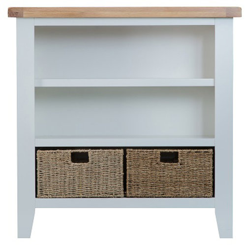 DORSET GREY  RANGE SMALL WIDE BOOKCASE
