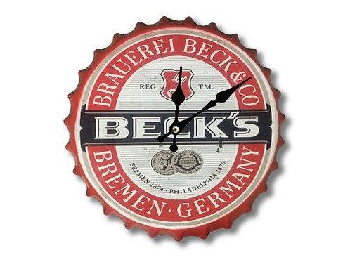 Becks bottle top clock