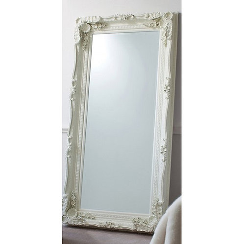 LOUIS LEANER CARVED CREAM MIRROR