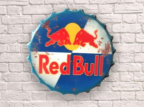 40cm red bull bottle top