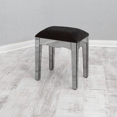 smoked glass stool