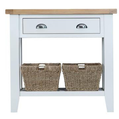 DORSET WHITE  COLLECTION CONSOLE TABLE
