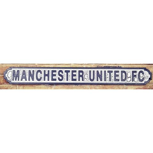 VINTAGE SIGN MANCHESTER UNITED FC