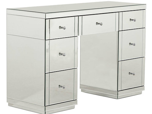 clear mirrored glass double dressing table