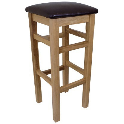 BROMLEY HIGH BAR  STOOL BROWN  SEAT PAD