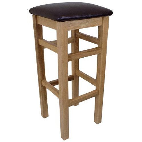 BROMLEY HIGH BAR  STOOL BROWN  SEAT PAD