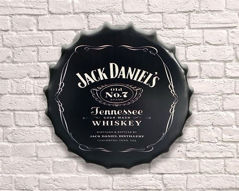 large jack daniel's tennessee whiskey bottle top wall art