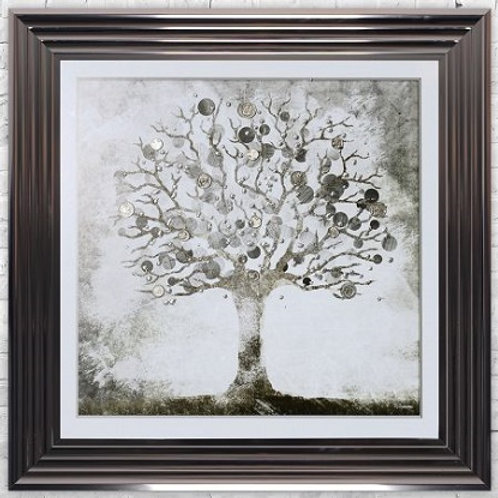 LIQUID ART MONEY TREE MET  FRAME 75 X 75CM