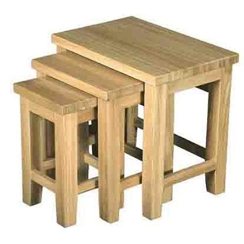 WINDSOR  OAK RANGE NEST OF TABLE (3) SET