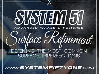 SURFACE REFINEMENT - DEFINING THE MOST COMMON SURFACE IMPERFECTIONS