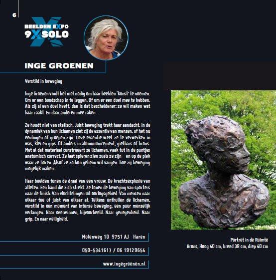 Hortus Haren heeft 9 beeldhouwers de gelegenheid gegeven hun beelden daar te tonen.