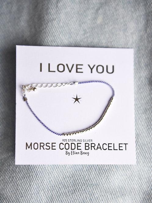 I LOVE YOU MORSE CODE BRACELET