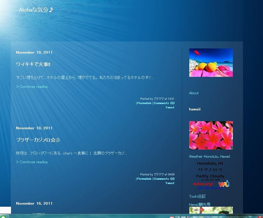 以前のブログの画面ショット