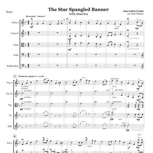 The Star Spangled Banner for String Orchestra
